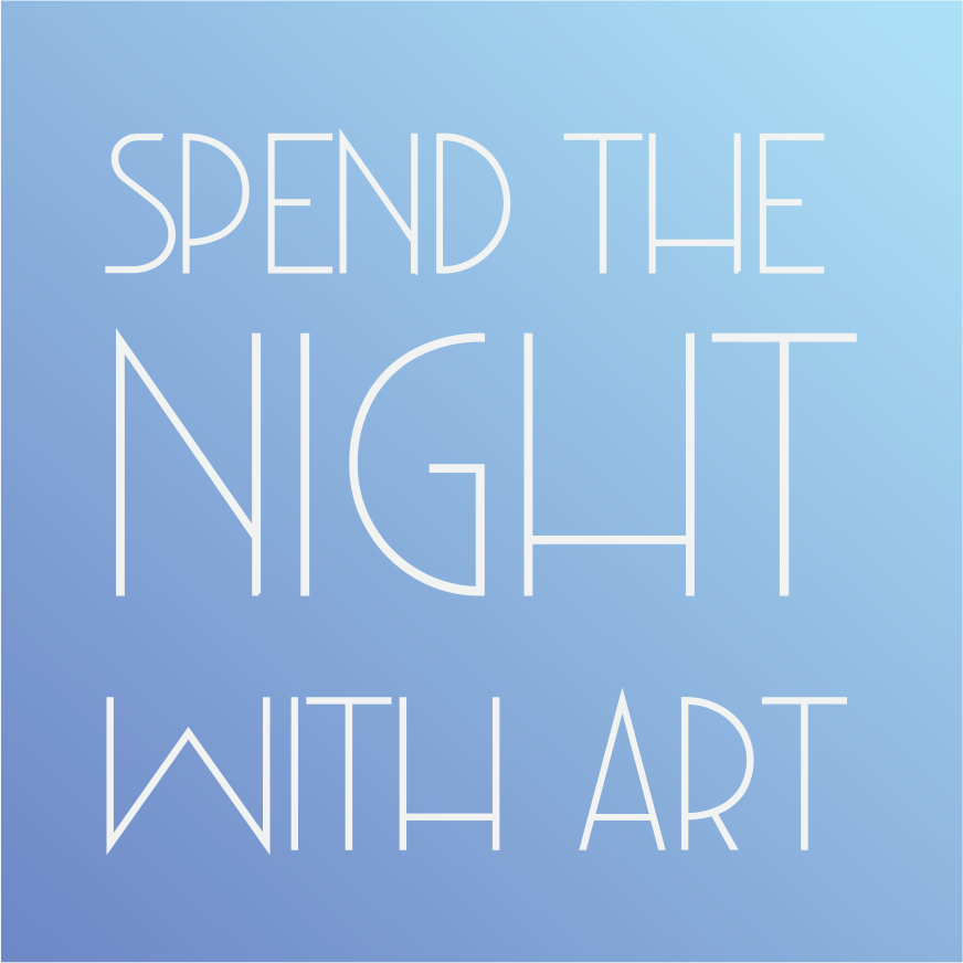 Spend The Night With Art Branding